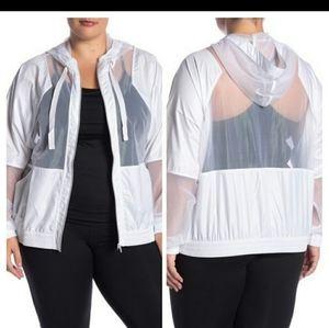 Here!!Nordstrom Plus Size Zella mesh hooded jacket